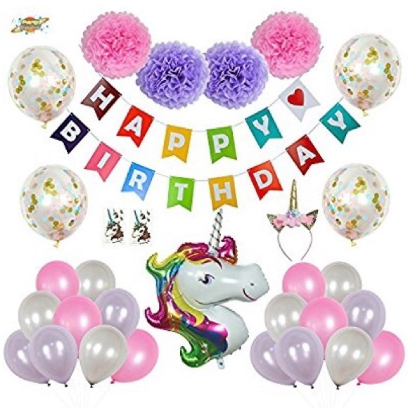 Other - Unicorn Party Decorations Set